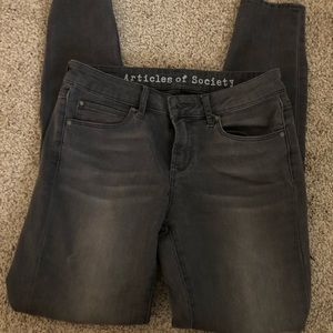 Articles of Society skinny jeans grey size 26